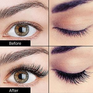 Magnetic Eyelashes - Before and after