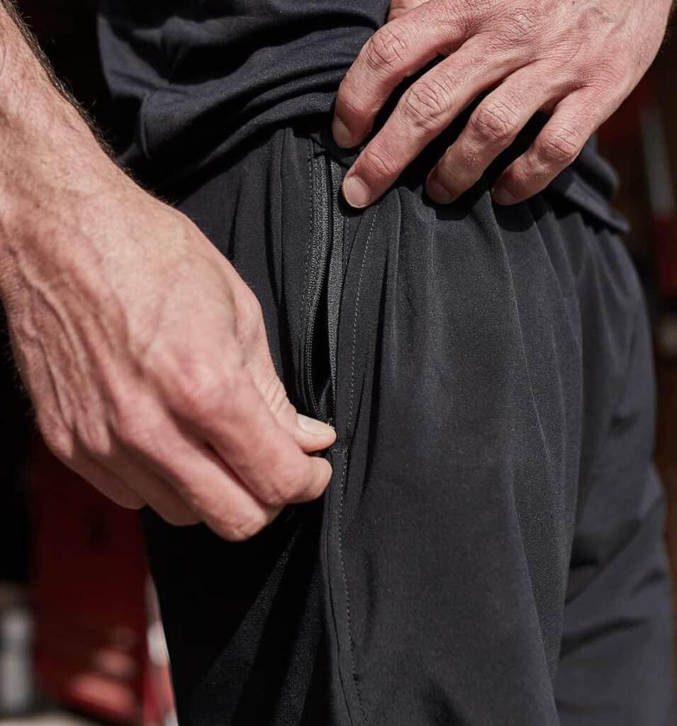 GORUCK American Training Shorts - 7.5 black zipper