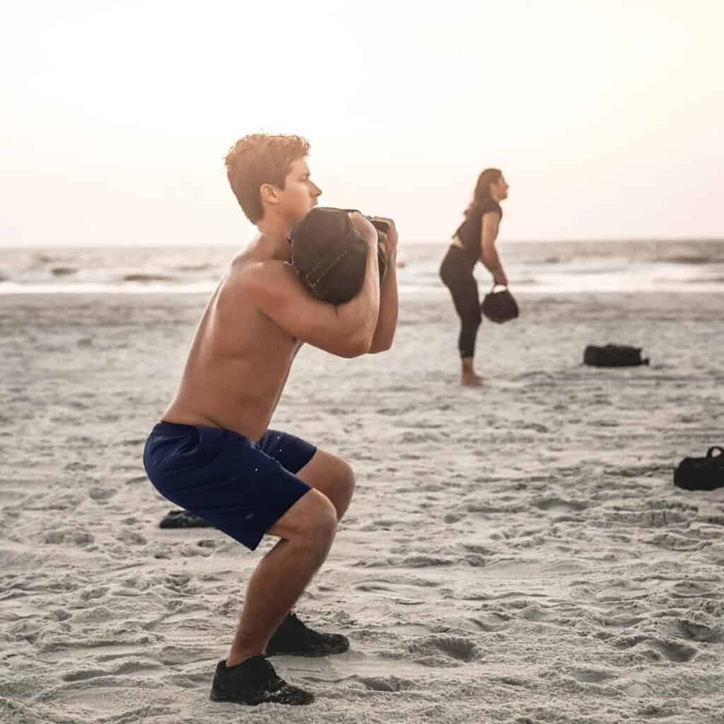 GORUCK American Training Shorts - 7.5 navy squats