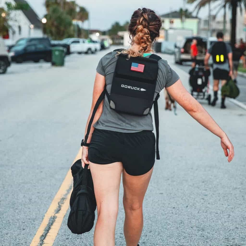 GORUCK Womens American Training Shorts women's back