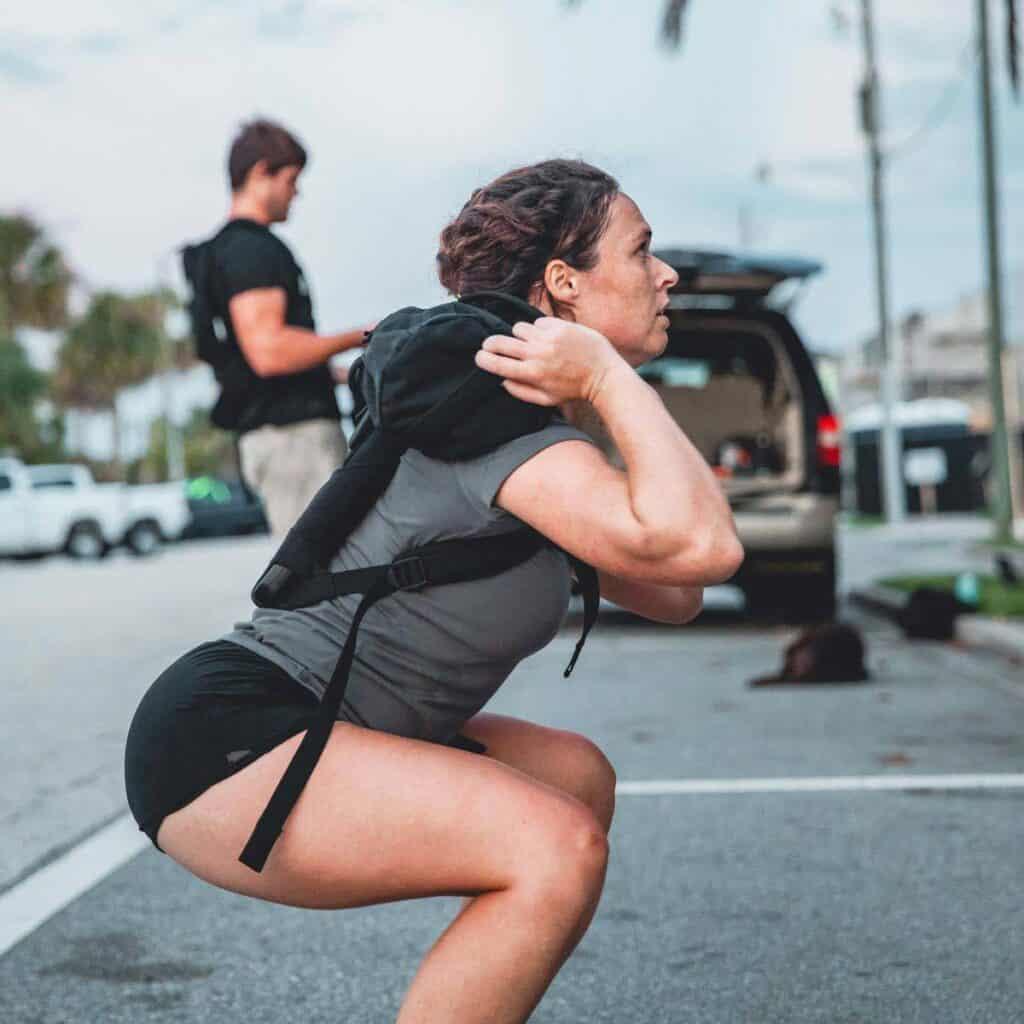 GORUCK Women's American Training Shorts women's squat