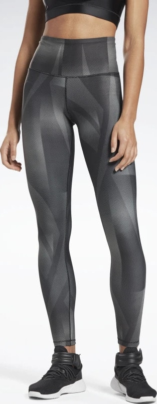 Reebok Lux Bold High-Rise Vector Block Tights worn full view front