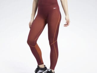 Reebok Meet You There 7 8 Length Leggings worn front view full