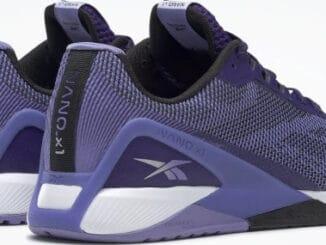 Reebok Nano X1 Grit Dark Orchid - Core Black - Hyper Purple right pair