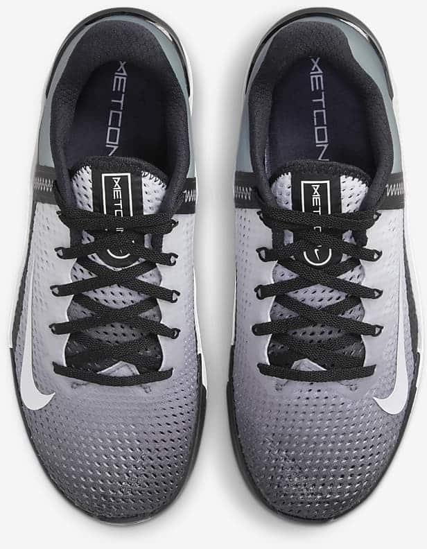 Nike Metcon 6 BlackWhite top view pair