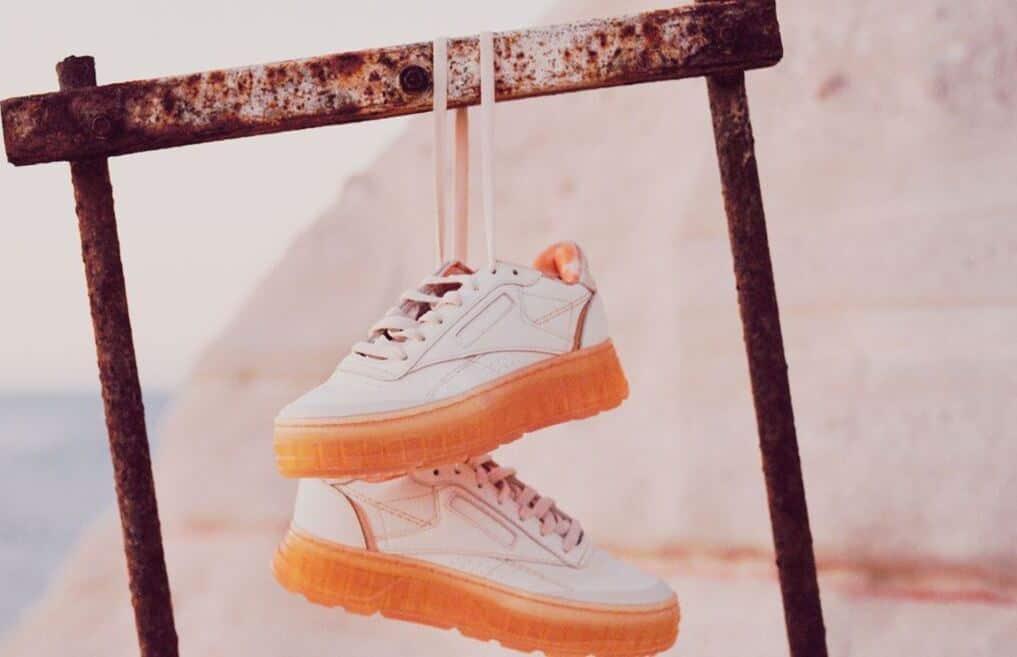 Reebok Club C Double GEO Womens Shoes hanging pair 2