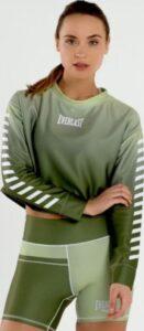 Everlast Womens Colorplay Crop Sweatshirt green