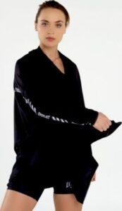 Everlast Womens Colorplay Hooded Wrap black