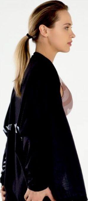 Everlast Womens Colorplay Hooded Wrap black side