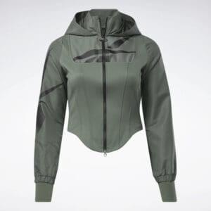 Reebok Cardi B Corset Hoodie Plus Size full front