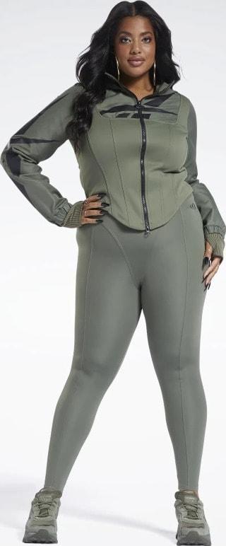 Reebok Cardi B Leggings Plus Size front
