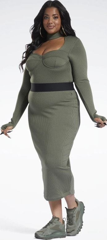 Reebok Cardi B Rib Skirt Plus Size full