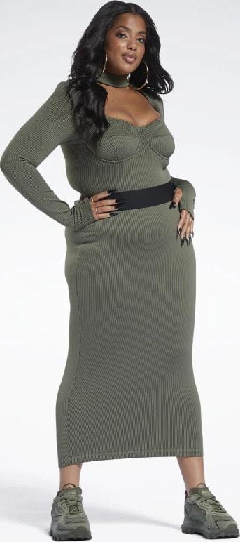 Reebok Cardi B Rib Skirt Plus Size side