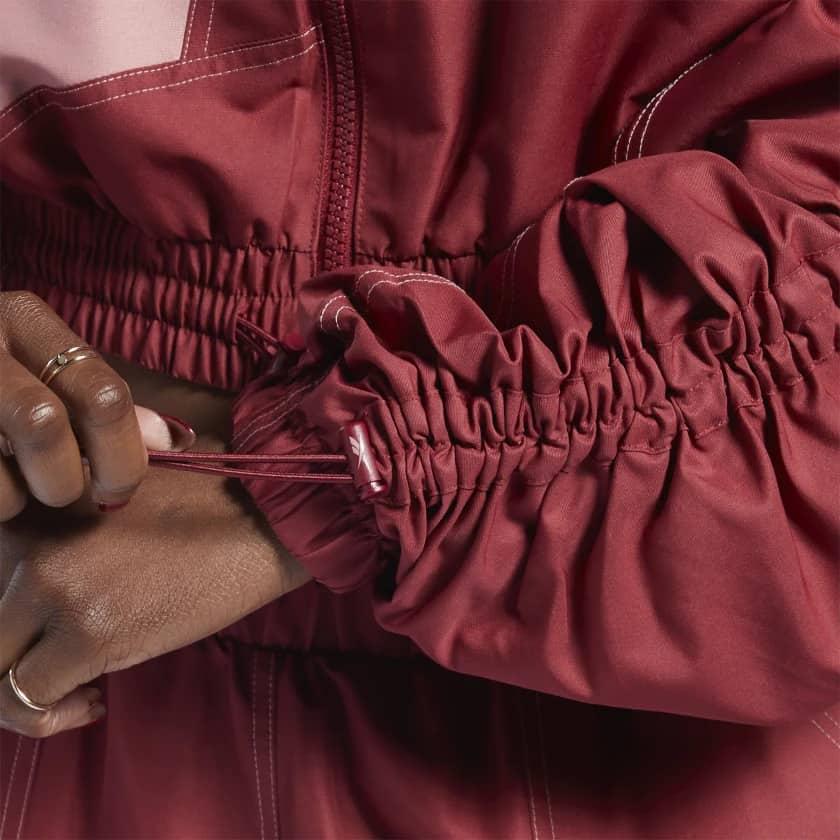 Reebok Cardi B Woven Satin Jacket details