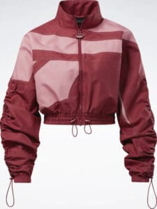 Reebok Cardi B Woven Satin Jacket full front