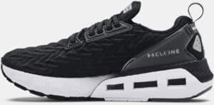 Womens UA HOVR Mega 2 Clone Running Shoes Black White left  side