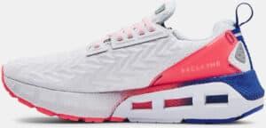 Womens UA HOVR Mega 2 Clone Running Shoes White Brilliance side view left