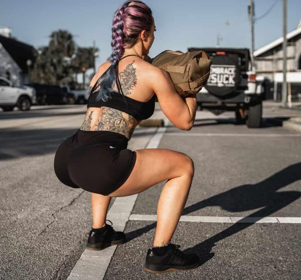GORUCK Womens Indestructible Squat Shorts wide squat