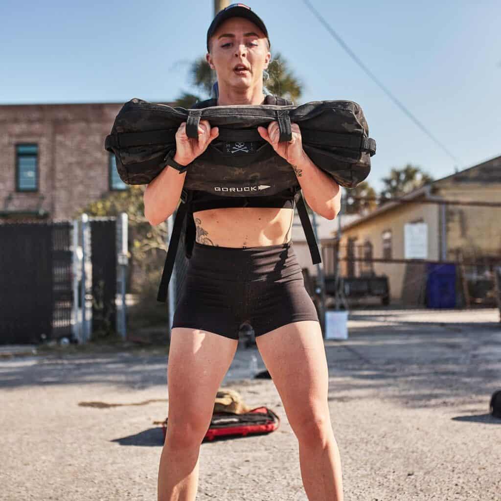 GORUCK Womens Indestructible Squat Shorts worn