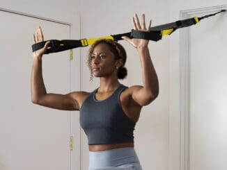 TRX PRO4 System with a user 2